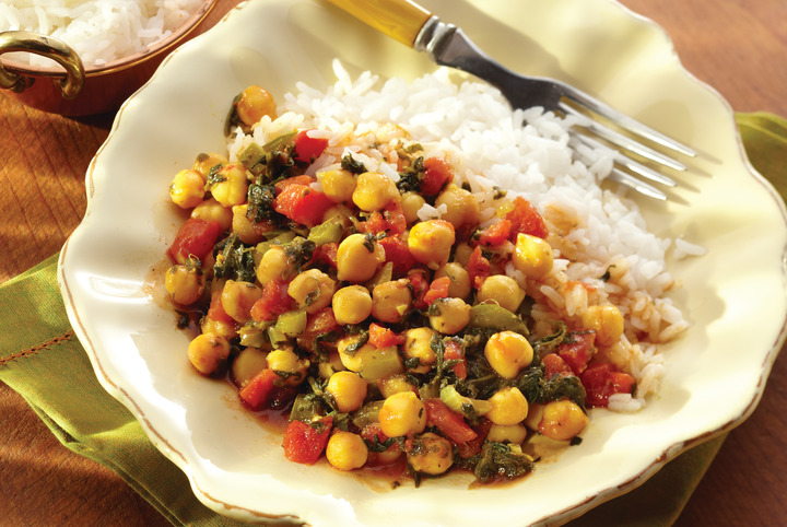 Curried Garbanzo Beans and Rice