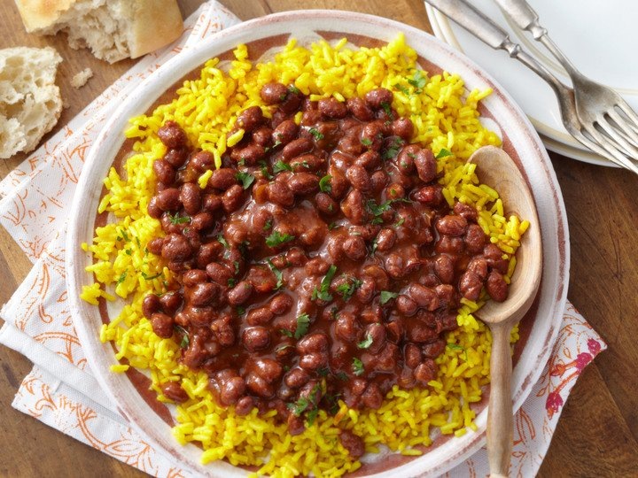 Spanish Red Beans And Yellow Rice S W Beans Recipe